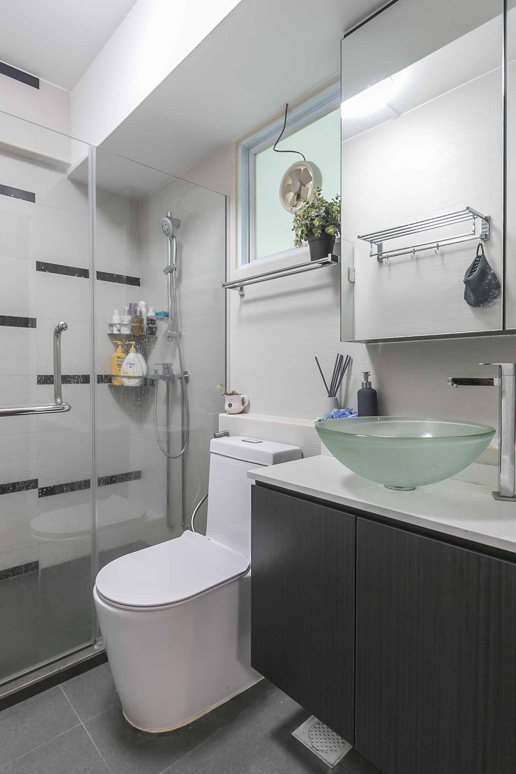 Eclectic, HDB, Bathroom, Woodlands Ring Road, Interior Designer, U-Home Interior Design, Contemporary