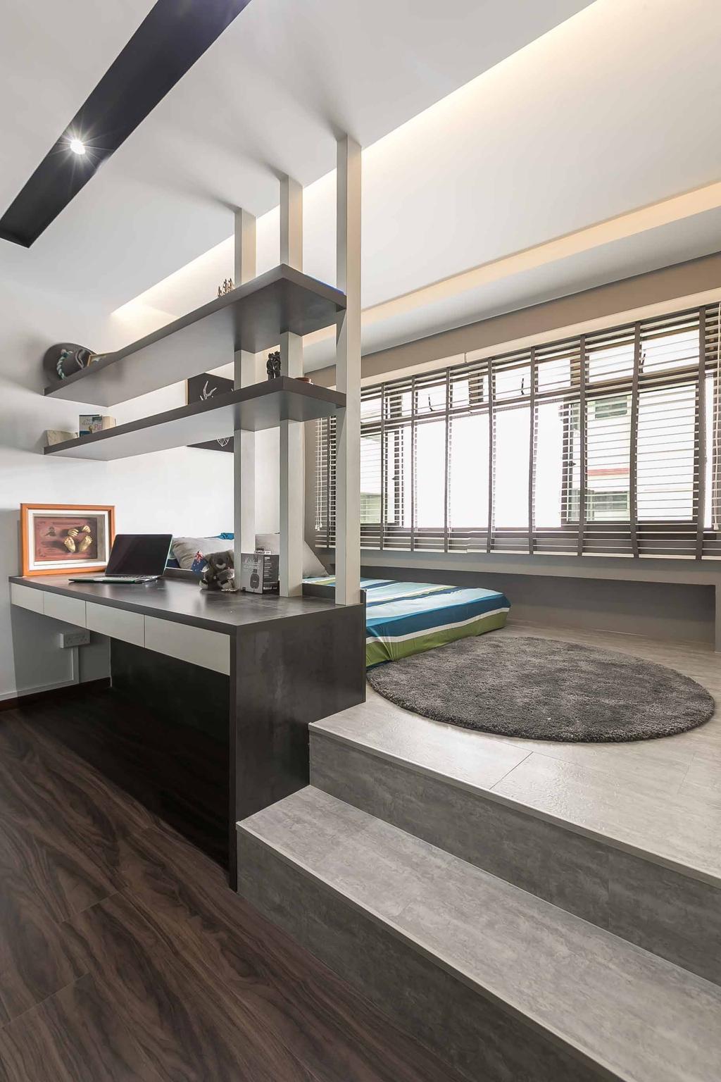 Eclectic, HDB, Bedroom, Woodlands Ring Road, Interior Designer, U-Home Interior Design, Contemporary