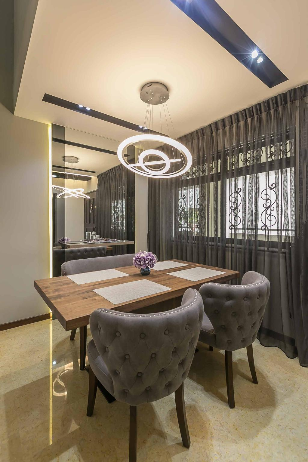 Eclectic, HDB, Dining Room, Woodlands Ring Road, Interior Designer, U-Home Interior Design, Contemporary