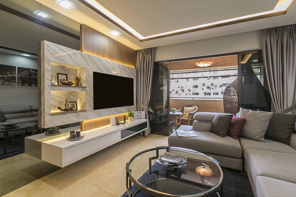 Eclectic, HDB, Living Room, Woodlands Ring Road, Interior Designer, U-Home Interior Design, Contemporary