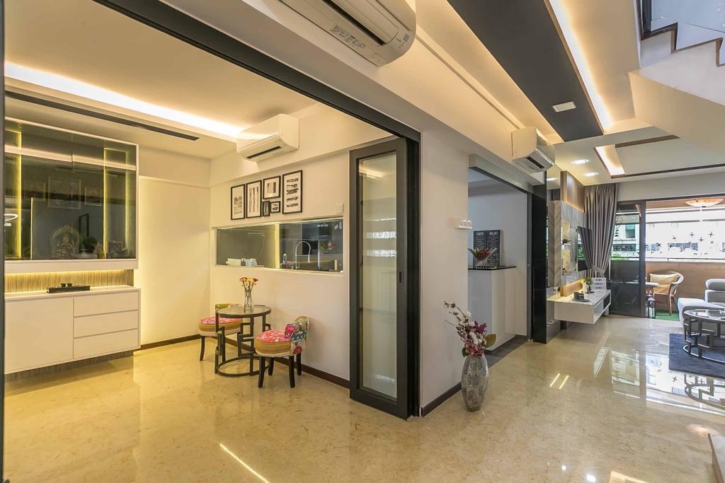 Eclectic, HDB, Study, Woodlands Ring Road, Interior Designer, U-Home Interior Design, Contemporary