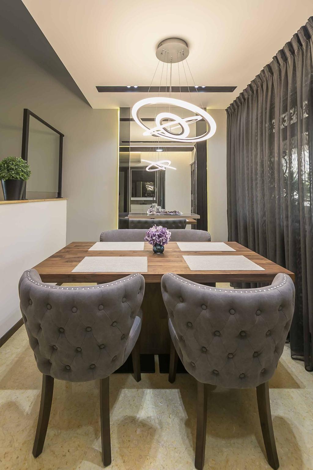 Eclectic, HDB, Dining Room, Woodlands Ring Road, Interior Designer, U-Home Interior Design, Contemporary