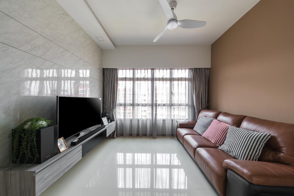 HDB, Living Room, Bukit Batok West Avenue 6, Interior Designer, U-Home Interior Design
