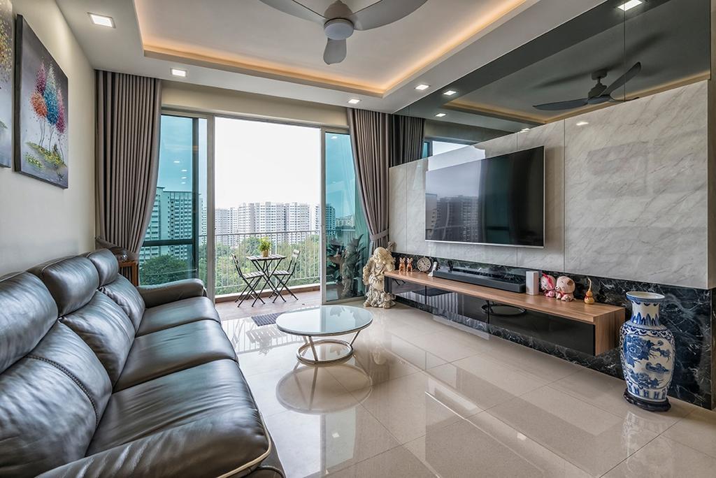 Contemporary, Condo, Living Room, Park Green, Interior Designer, U-Home Interior Design