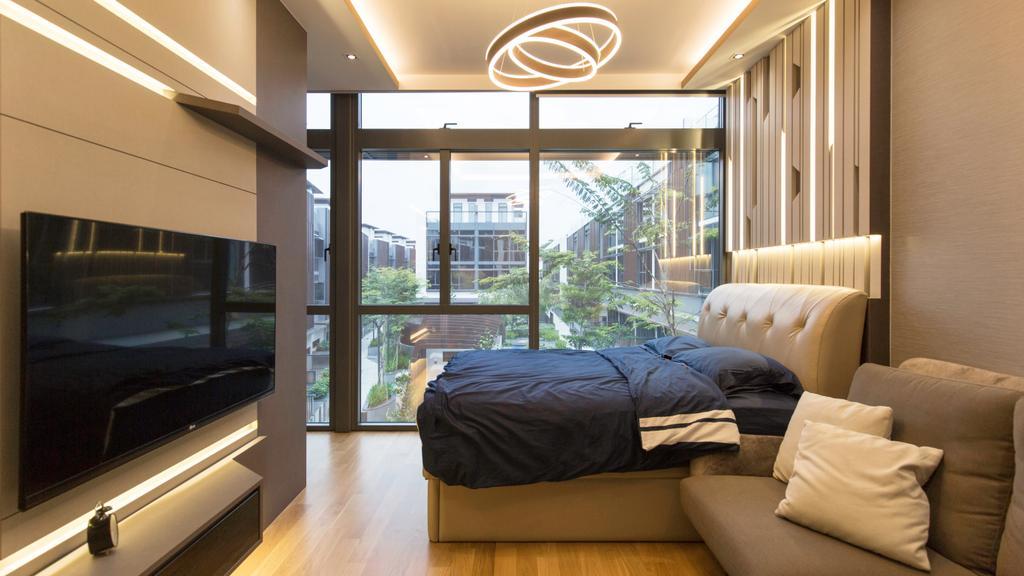 Contemporary, Landed, Bedroom, Wak Hassan Drive, Interior Designer, U-Home Interior Design