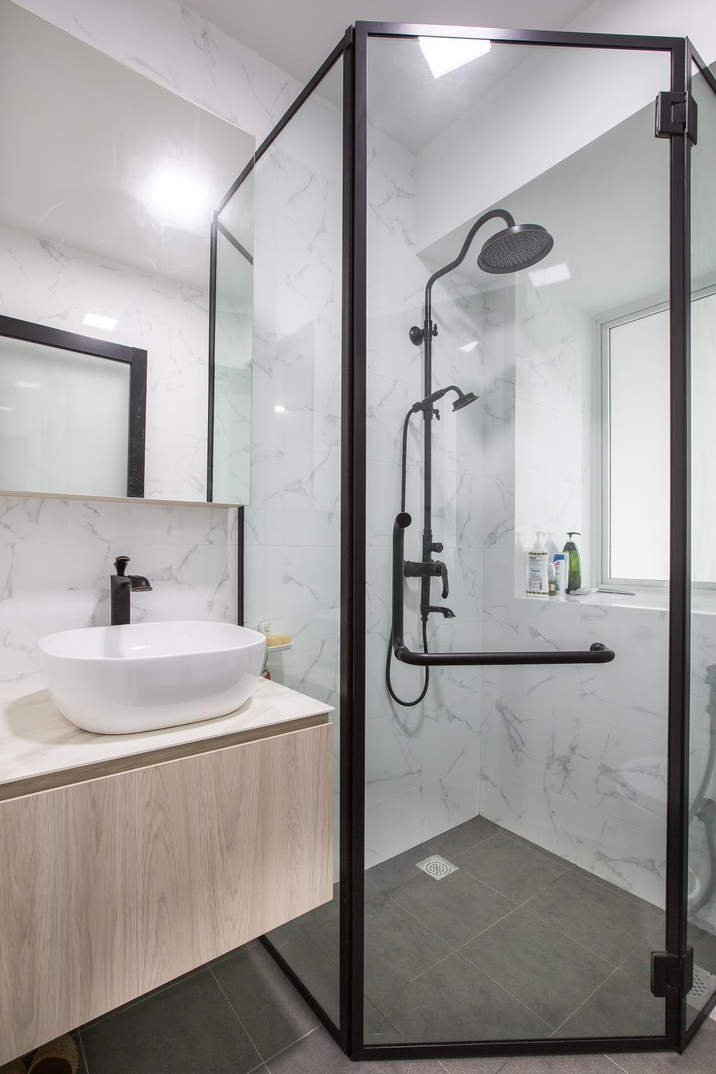 Contemporary, HDB, Bathroom, Ang Mo Kio Street 52, Interior Designer, Meter Square, Scandinavian