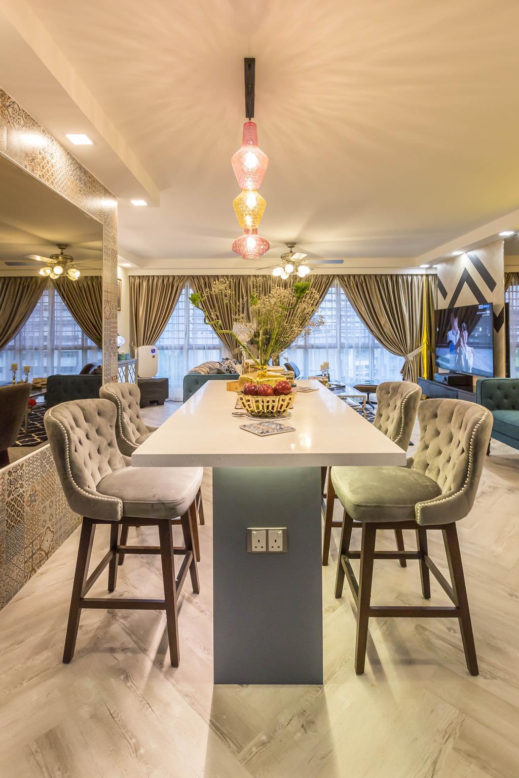 Modern, HDB, Punggol Place, Interior Designer, U-Home Interior Design, Eclectic