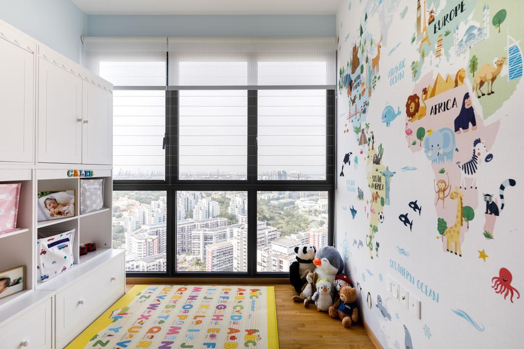 Modern, Condo, Bedroom, The Clement Canopy, Interior Designer, Anhans Interior Design, Kids Room, Playroom