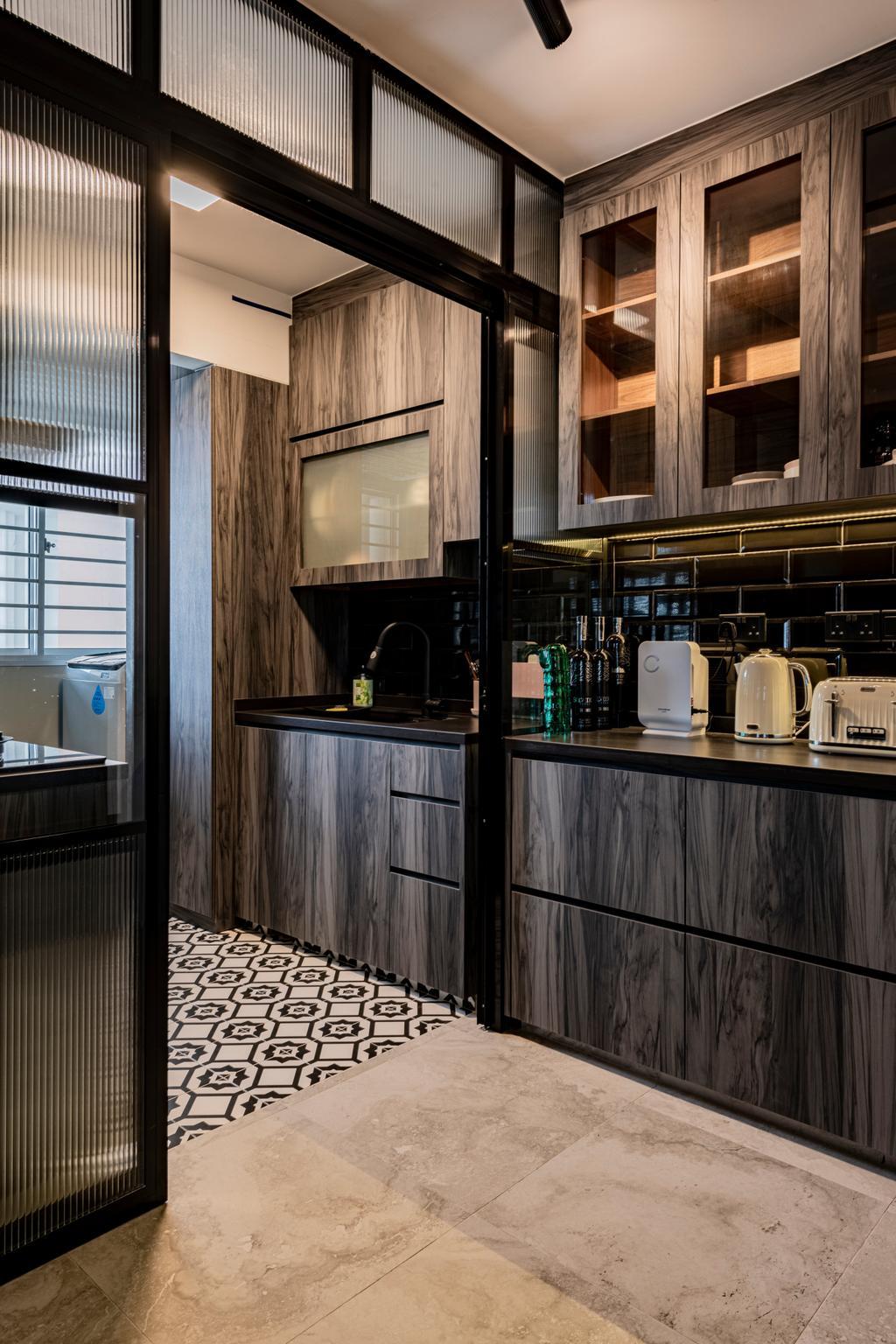 Contemporary, HDB, Kitchen, Anchorvale, Interior Designer, De Exclusive Design Group
