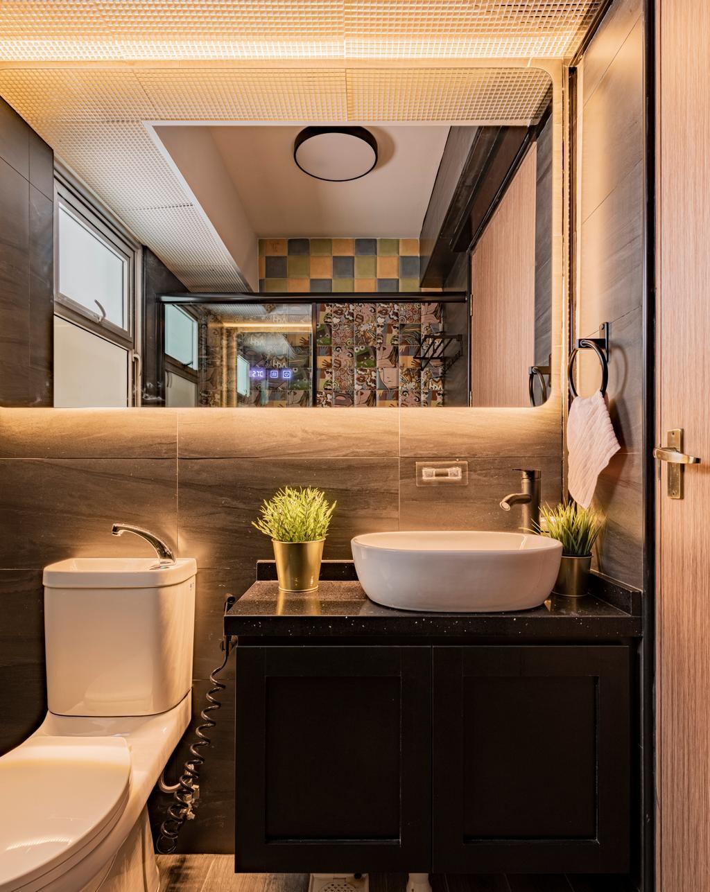 Contemporary, HDB, Bathroom, Anchorvale, Interior Designer, De Exclusive Design Group