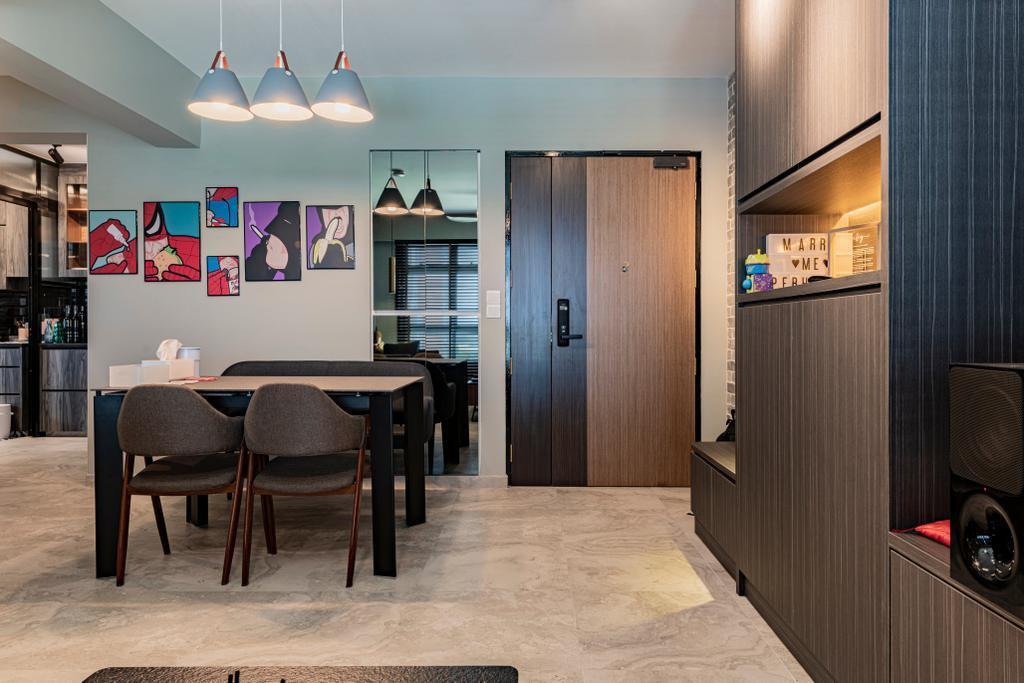 Contemporary, HDB, Dining Room, Anchorvale, Interior Designer, De Exclusive Design Group