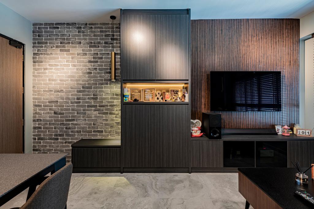 Contemporary, HDB, Living Room, Anchorvale, Interior Designer, De Exclusive Design Group