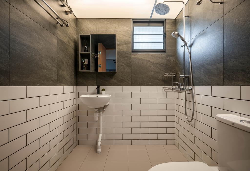 Scandinavian, HDB, Bathroom, Alkaff Crescent, Interior Designer, Zenith Arc