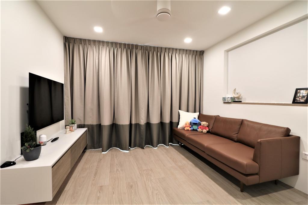 Modern, HDB, Living Room, Circuit Road, Interior Designer, E+e Design & Build, Minimalistic
