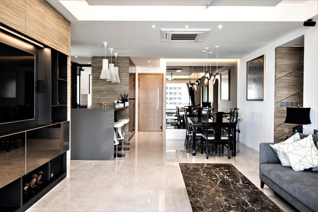 Contemporary, Condo, Living Room, Vertis, Interior Designer, E+e Design & Build