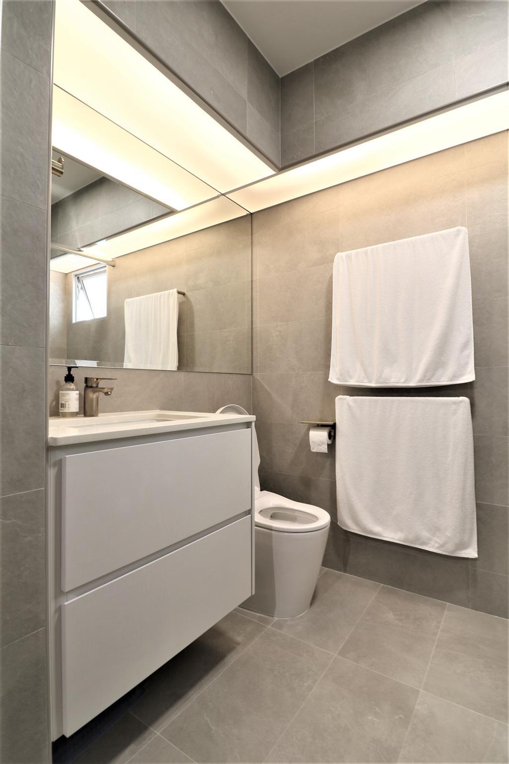 Modern, HDB, Bathroom, Circuit Road, Interior Designer, E+e Design & Build, Minimalistic