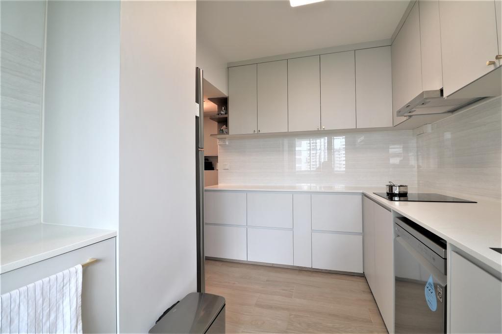 Modern, HDB, Kitchen, Circuit Road, Interior Designer, E+e Design & Build, Minimalistic