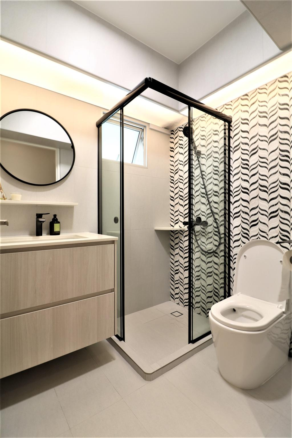 Modern, HDB, Bathroom, Circuit Road, Interior Designer, E+e Design & Build, Minimalistic