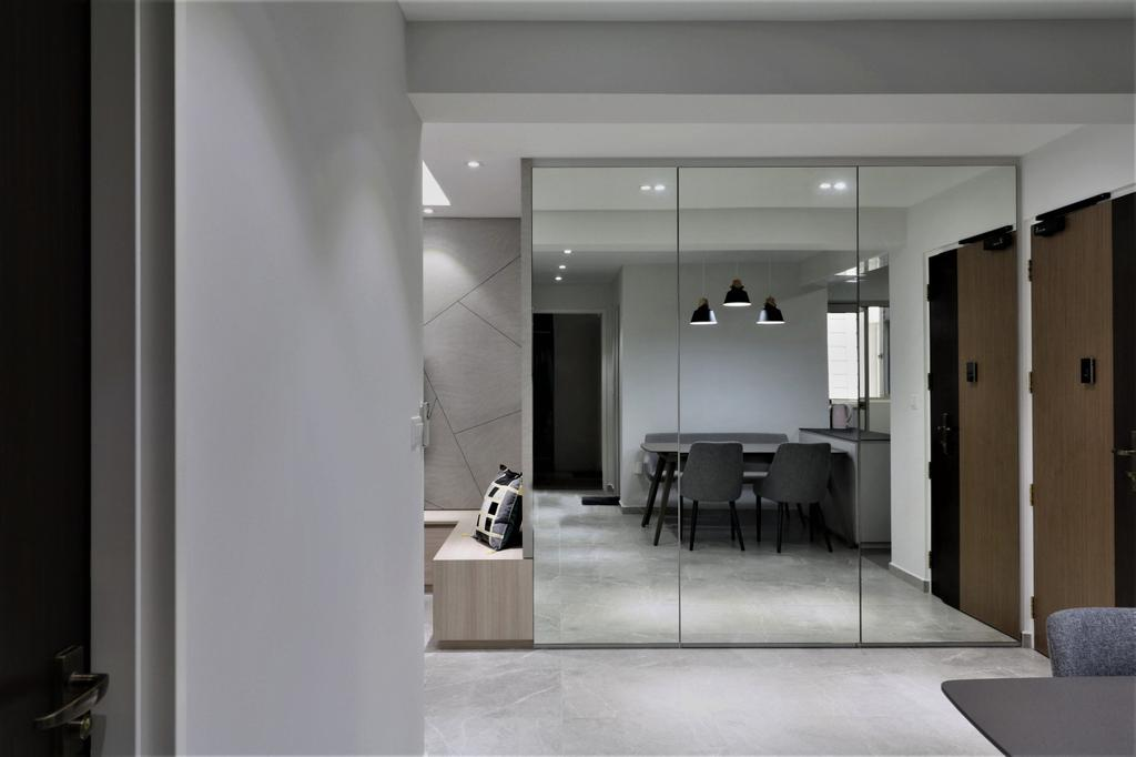 Contemporary, HDB, Living Room, Sumang Walk, Interior Designer, E+e Design & Build