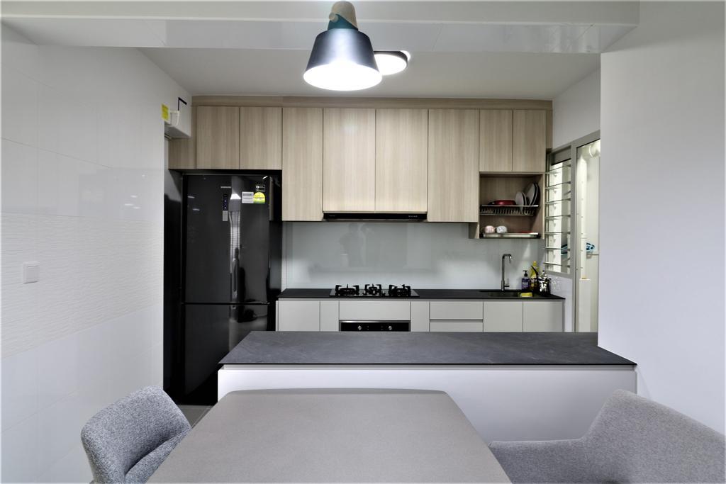 Contemporary, HDB, Kitchen, Sumang Walk, Interior Designer, E+e Design & Build