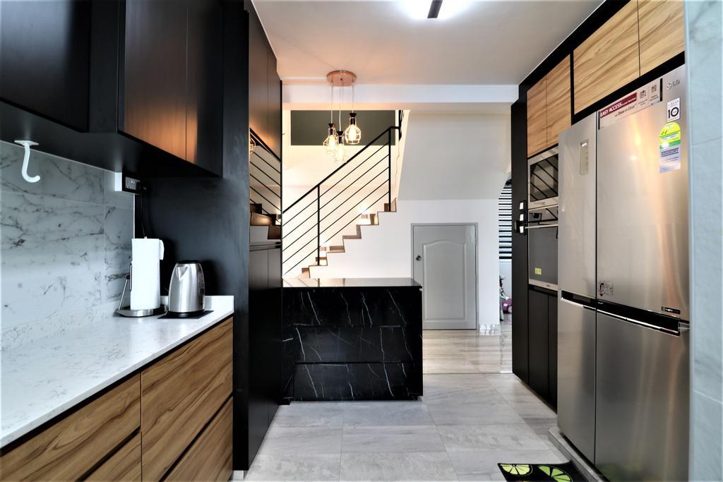 Contemporary, HDB, Kitchen, Pasir Ris Drive 6, Interior Designer, E+e Design & Build