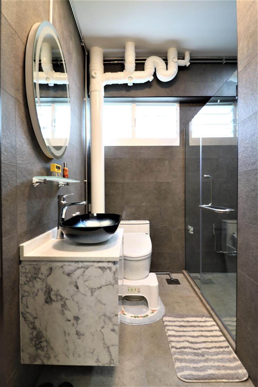 Contemporary, HDB, Bathroom, Pasir Ris Drive 6, Interior Designer, E+e Design & Build