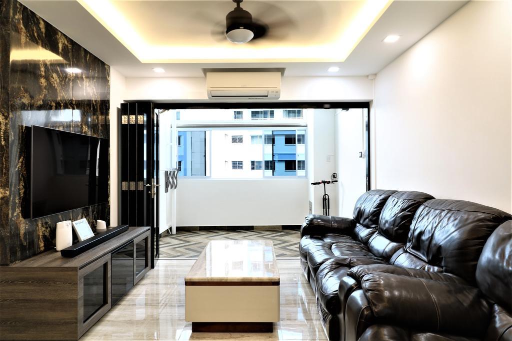 Contemporary, HDB, Living Room, Pasir Ris Drive 6, Interior Designer, E+e Design & Build