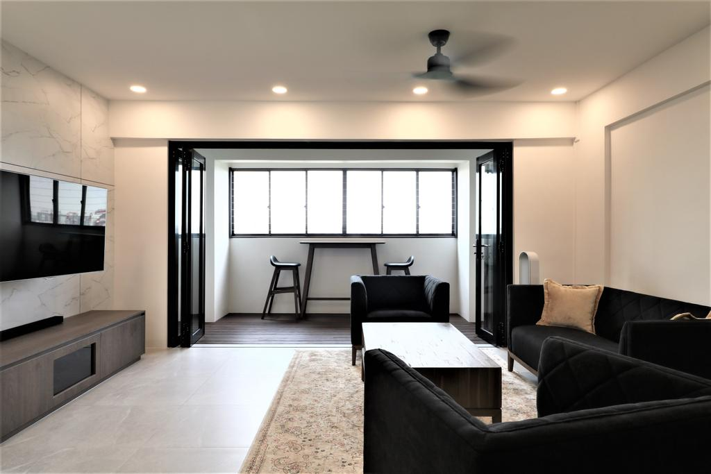 Contemporary, HDB, Living Room, Tampines Street 41, Interior Designer, E+e Design & Build