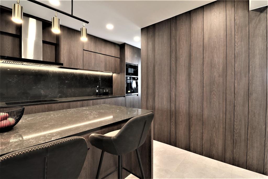 Contemporary, HDB, Kitchen, Tampines Street 41, Interior Designer, E+e Design & Build
