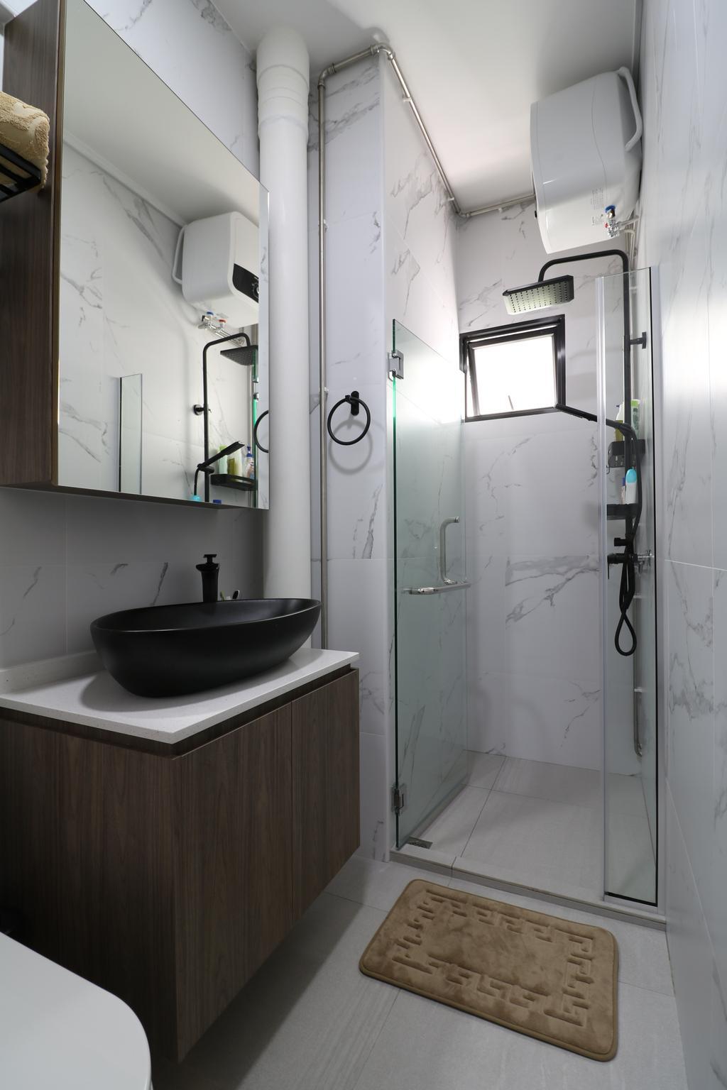 Contemporary, HDB, Bathroom, Tampines Street 41, Interior Designer, E+e Design & Build
