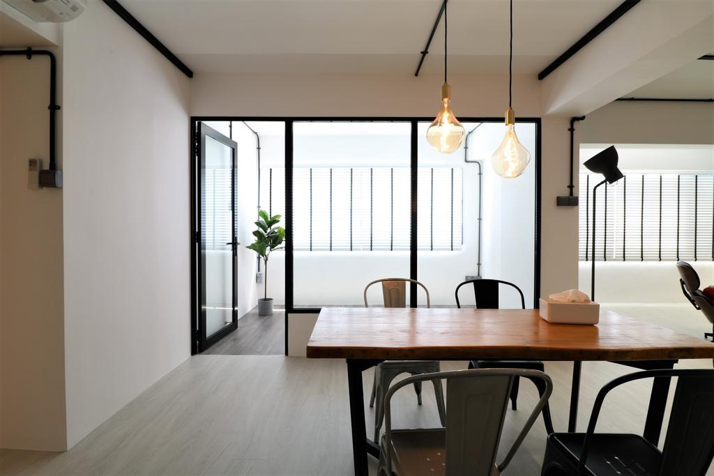 Industrial, HDB, Dining Room, Pasir Ris Drive 4, Interior Designer, E+e Design & Build, Contemporary