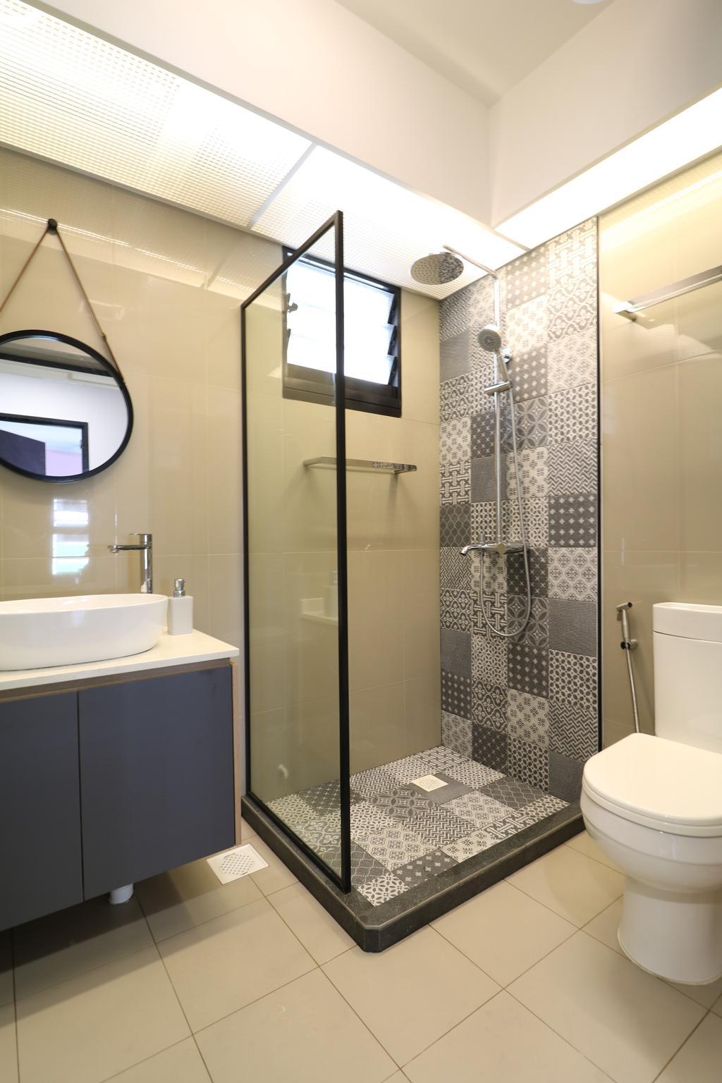 Scandinavian, HDB, Bathroom, Tampines Street 61, Interior Designer, E+e Design & Build, Contemporary