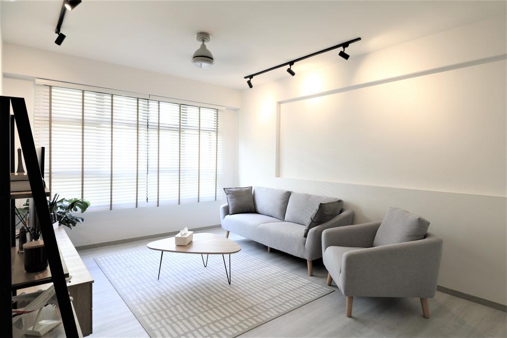 Scandinavian, HDB, Living Room, Tampines Street 61, Interior Designer, E+e Design & Build