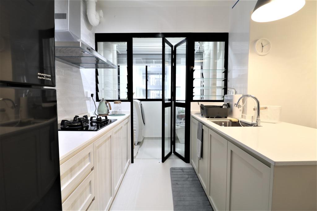 Scandinavian, HDB, Kitchen, Tampines Street 61, Interior Designer, E+e Design & Build