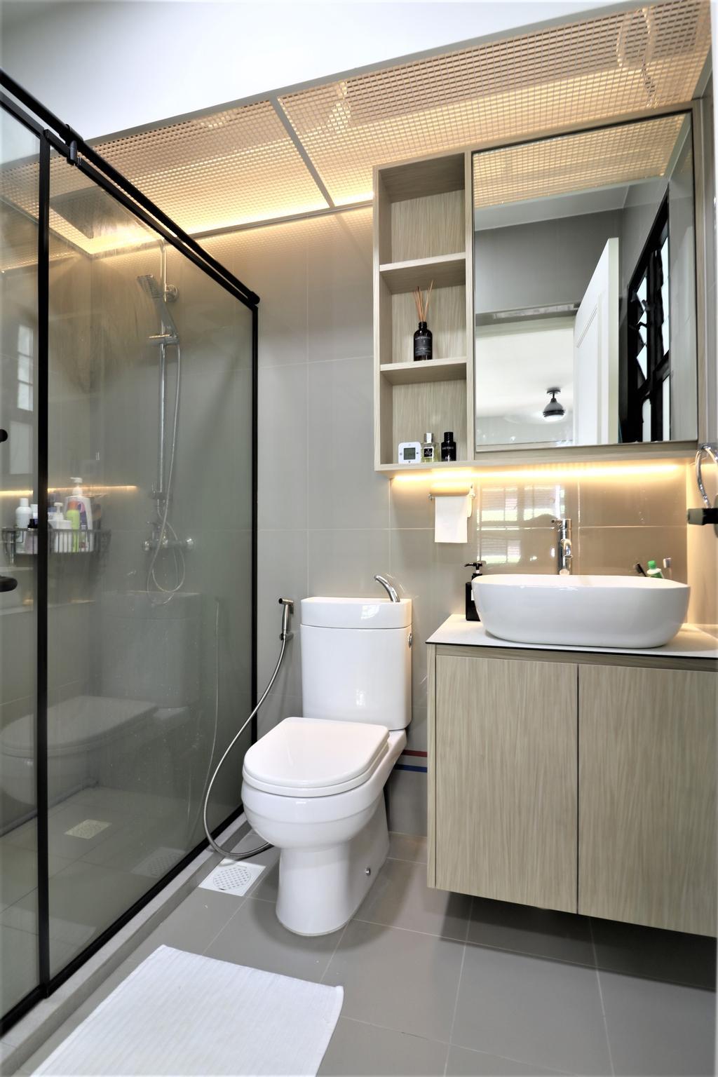 Scandinavian, HDB, Bathroom, Tampines Street 61, Interior Designer, E+e Design & Build
