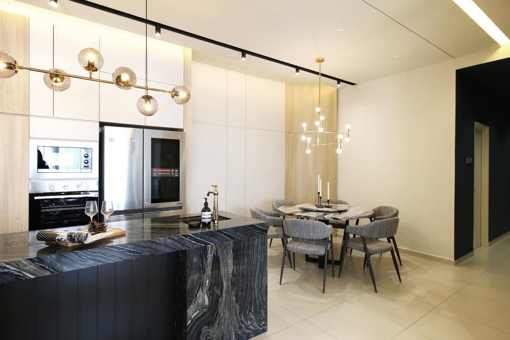Contemporary, Condo, Dining Room, Andes Condo 2, Puchong Kinrara, Interior Designer, Archmosphere-ds