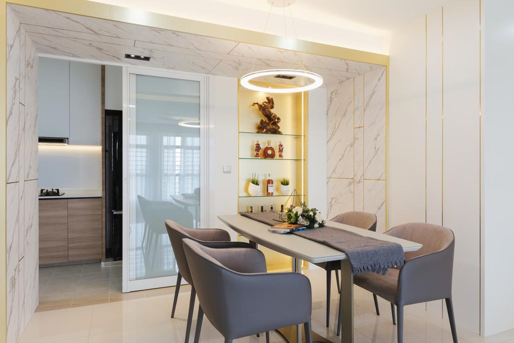 Contemporary, HDB, Dining Room, Punggol Drive, Interior Designer, ING Designers