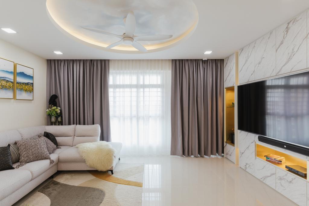 Contemporary, HDB, Living Room, Punggol Drive, Interior Designer, ING Designers