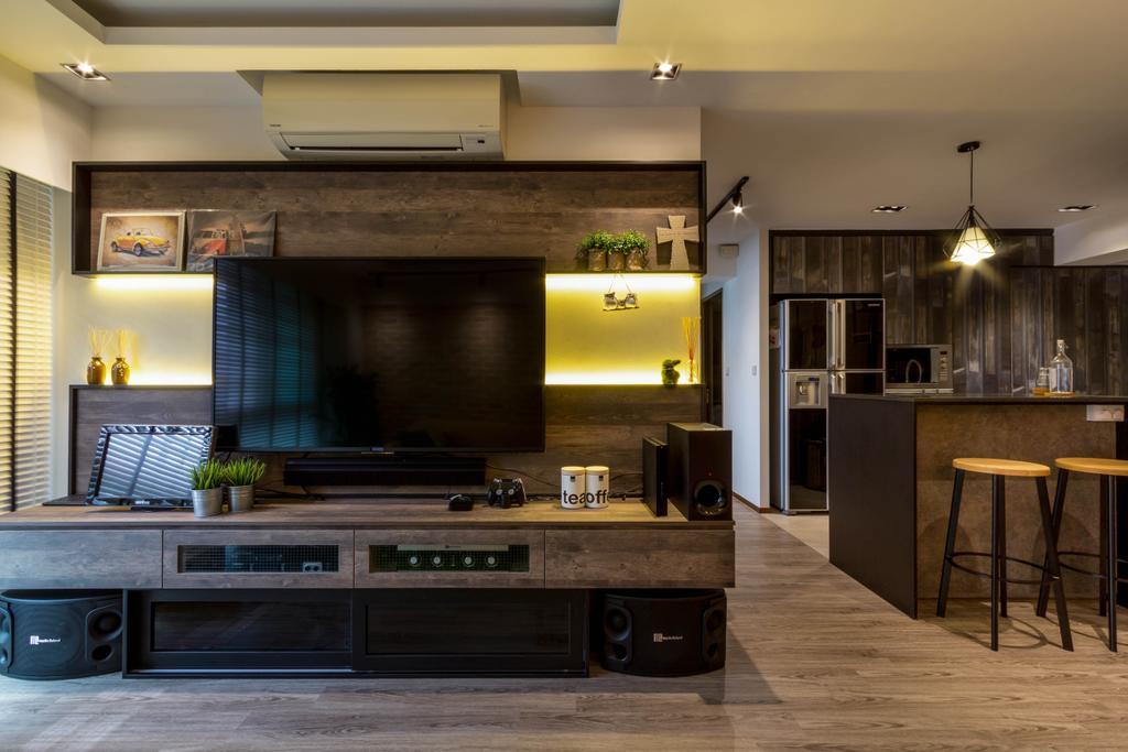 Modern, HDB, Living Room, Pinnacle @ Duxton, Interior Designer, Fineline Design