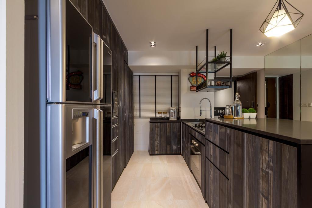 Modern, HDB, Kitchen, Pinnacle @ Duxton, Interior Designer, Fineline Design