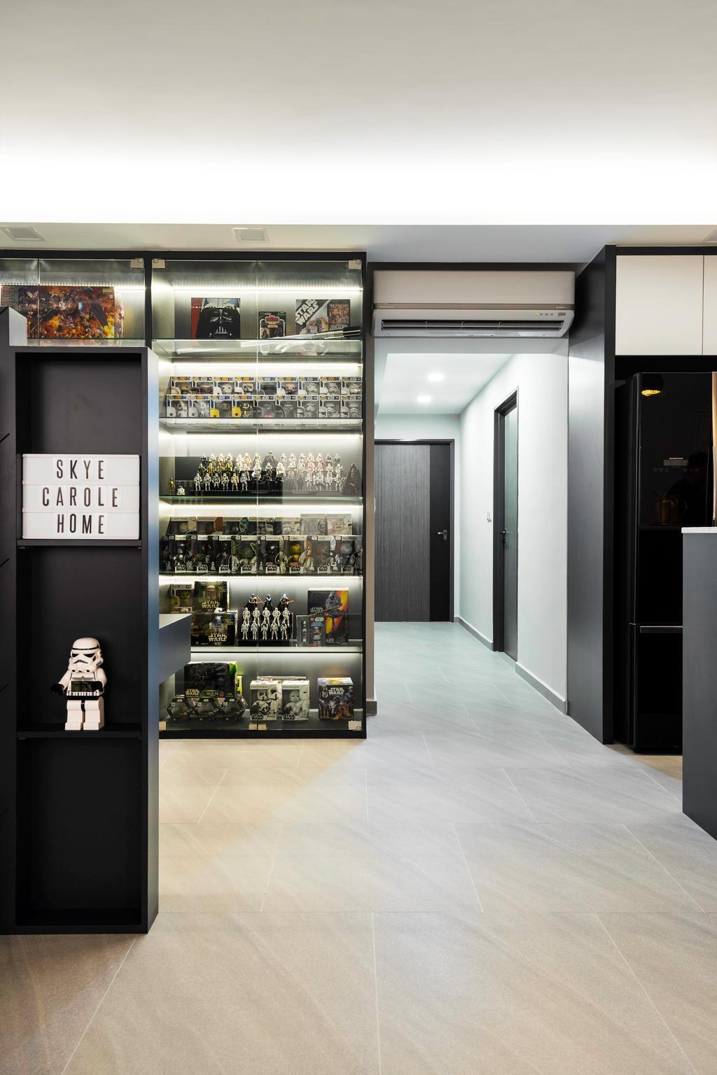 Contemporary, HDB, Living Room, Sumang Lane, Interior Designer, Fineline Design, Corridor, Hallway