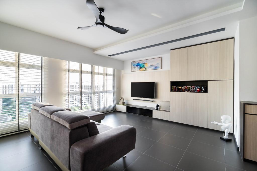 Scandinavian, HDB, Living Room, Compassvale Crescent, Interior Designer, Fineline Design, Minimalistic