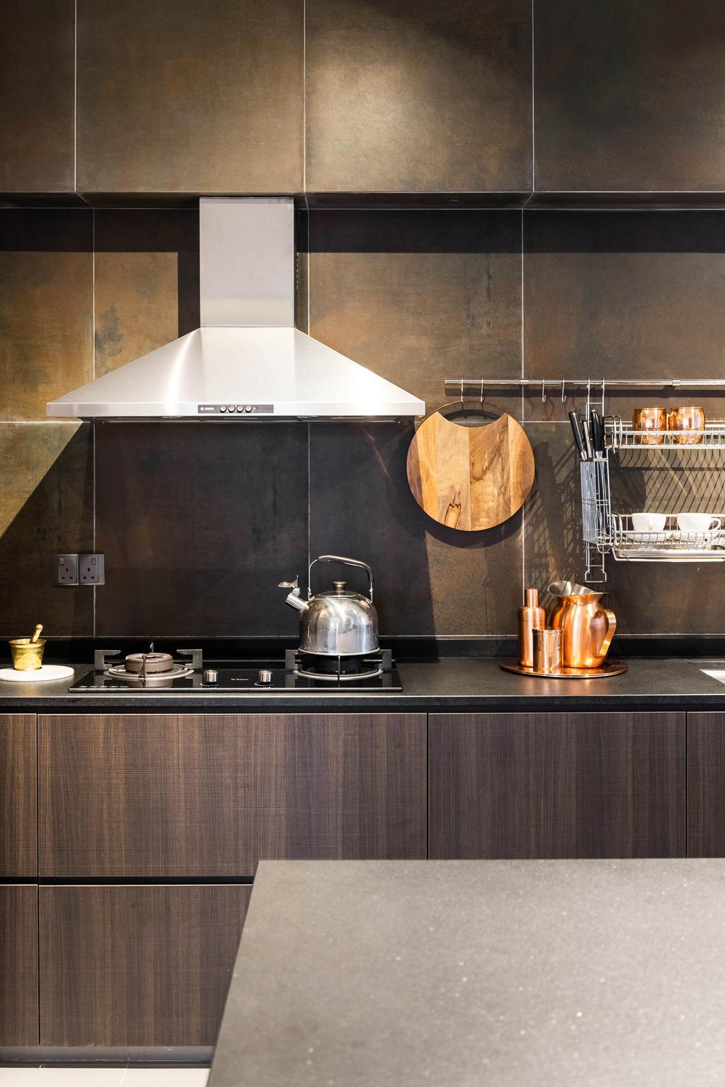 Scandinavian, HDB, Kitchen, Compassvale Crescent, Interior Designer, Fineline Design, Minimalistic