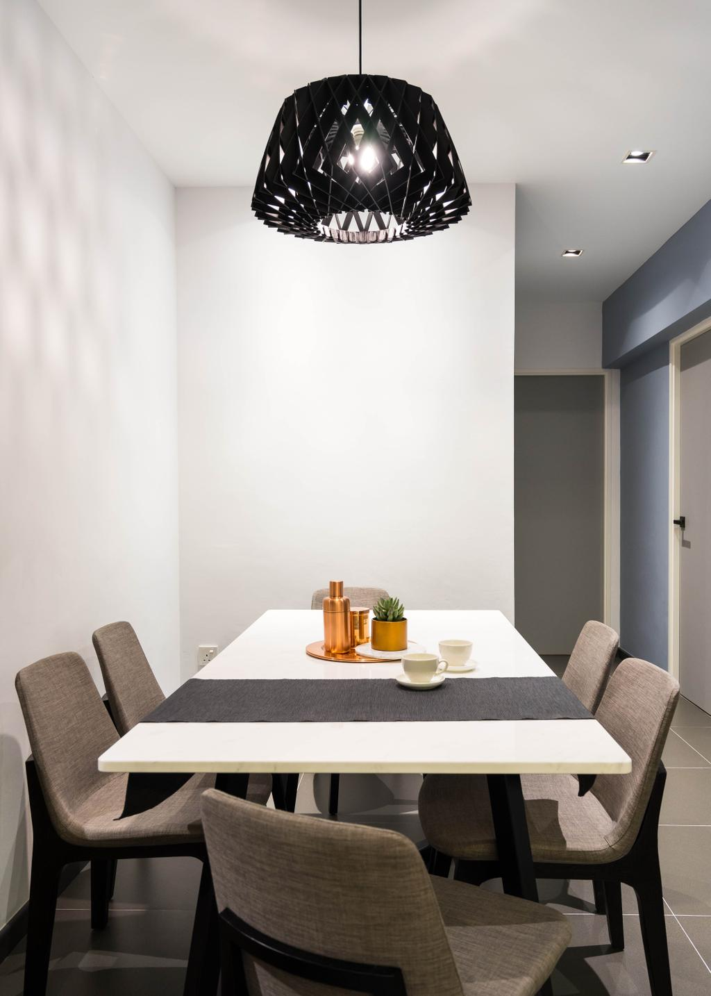 Scandinavian, HDB, Dining Room, Compassvale Crescent, Interior Designer, Fineline Design, Minimalistic