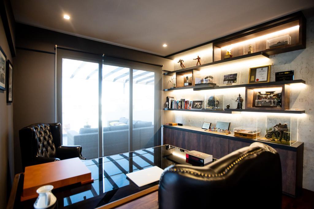 Modern, Landed, Study, Jalan Bangau, Interior Designer, Forefront Interior, Contemporary