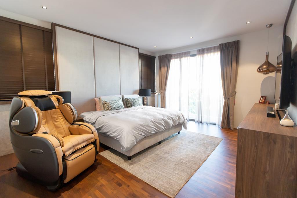 Modern, Landed, Bedroom, Jalan Bangau, Interior Designer, Forefront Interior, Contemporary