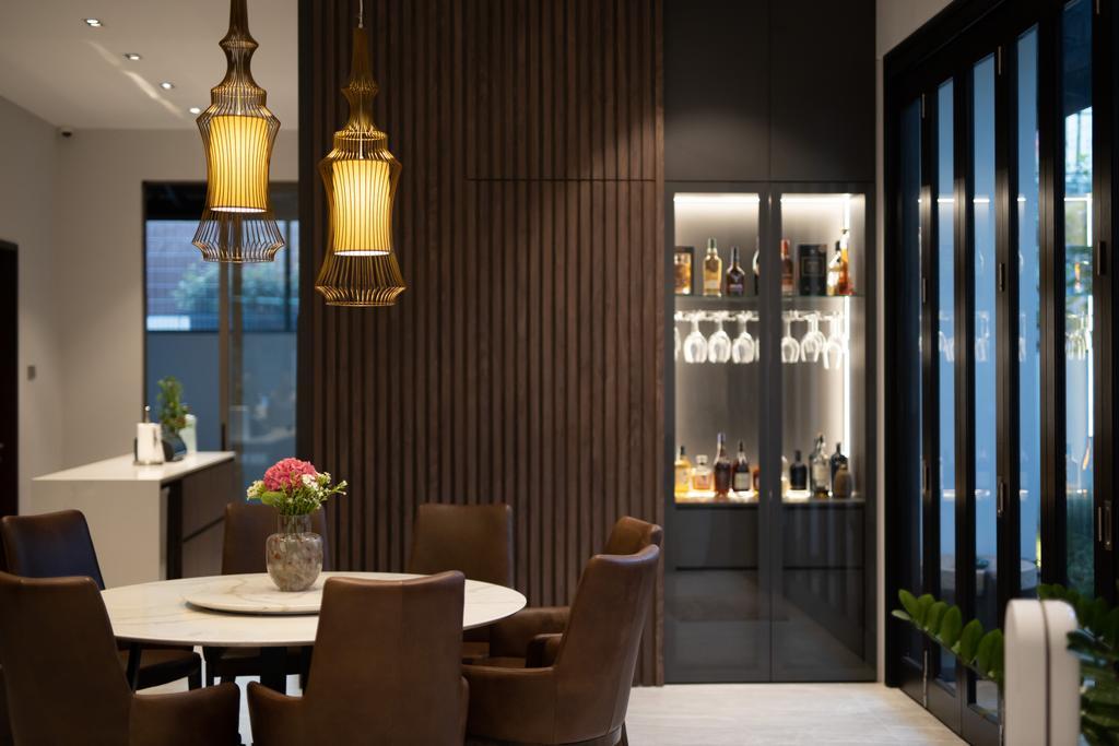 Modern, Landed, Dining Room, Jalan Bangau, Interior Designer, Forefront Interior, Contemporary