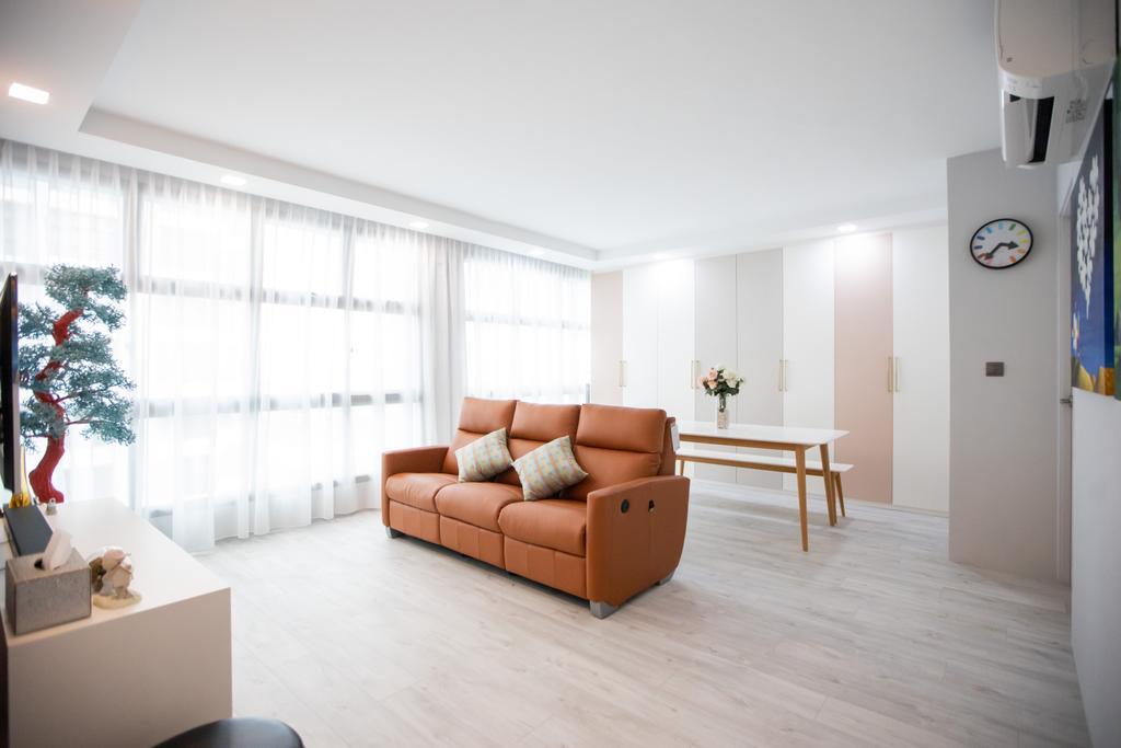 Scandinavian, HDB, Living Room, Eunos Crescent, Interior Designer, Forefront Interior
