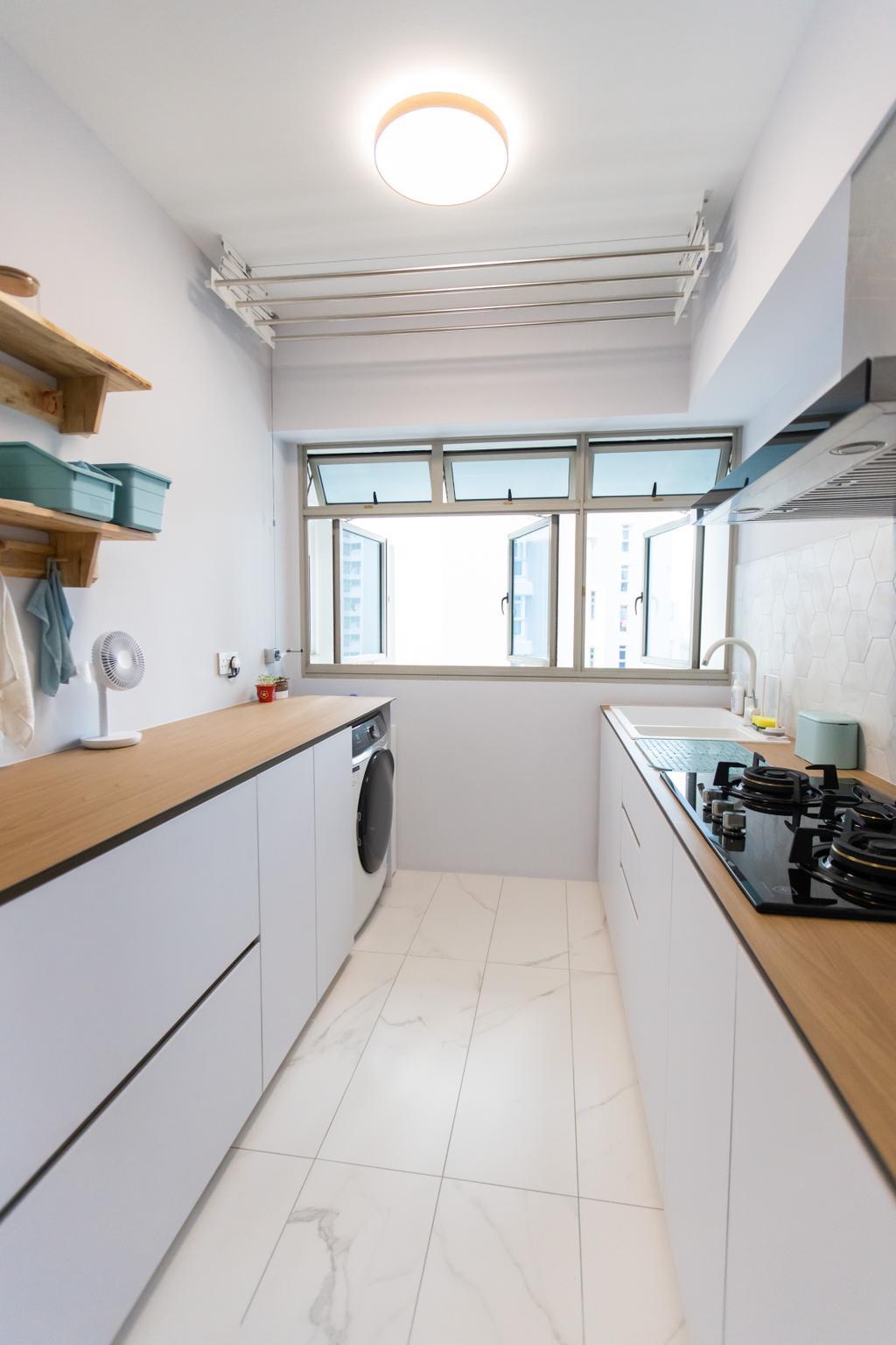 Scandinavian, HDB, Kitchen, Strathmore Avenue, Interior Designer, Forefront Interior