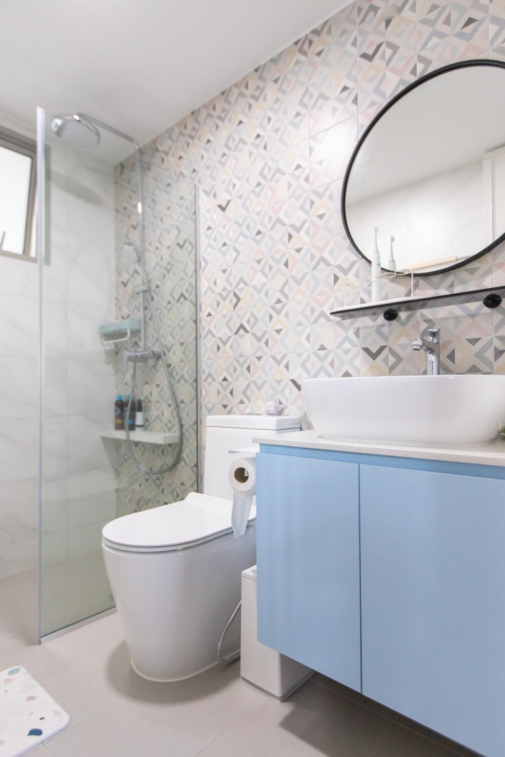 Scandinavian, HDB, Bathroom, Strathmore Avenue, Interior Designer, Forefront Interior